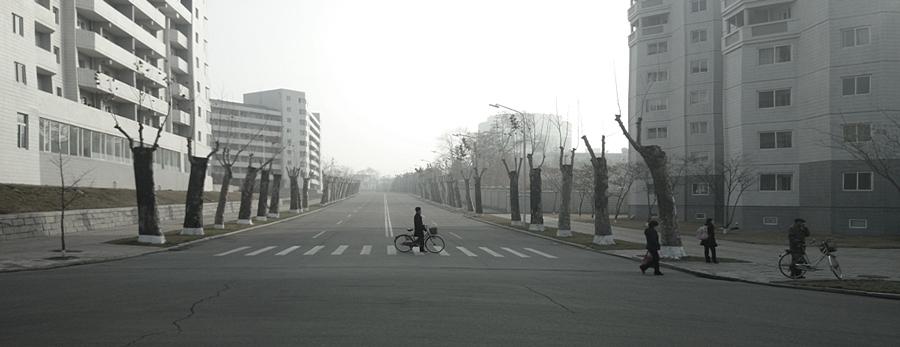 Eine Strasse in Pjöngjang